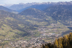 Meningen over Lienz in Oostenrijk Stock Afbeelding