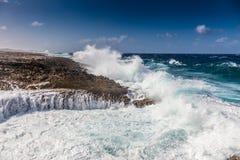 Meningen rond Curacao Caraïbisch eiland stock afbeelding