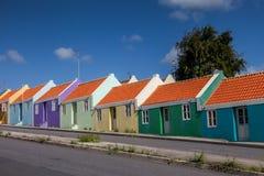 Meningen rond Curacao Caraïbisch eiland stock afbeeldingen