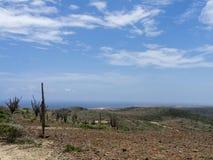 Meningen rond het nationale park Aruba van Arikok een klein Caraïbisch eiland royalty-vrije stock fotografie