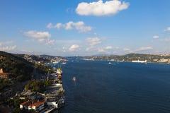 Meningen van Bosphorus en Istanboel Stock Afbeeldingen