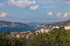 Meningen van Bosphorus en Istanboel Royalty-vrije Stock Afbeelding