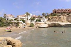 Meningen van de mooie kust van San Juan de Los Terreros Stock Afbeeldingen