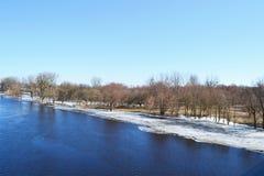 Meningen van de rivier Pina royalty-vrije stock foto