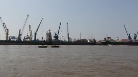 Meningen van de Saigon-Haven stock videobeelden