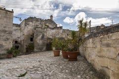 Meningen van de stad van Matera Royalty-vrije Stock Afbeeldingen
