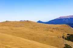 Meningen van de weg van de Sleeprand in Rocky Mountains Royalty-vrije Stock Foto's