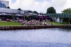 Meningen van een Cruise van de avondrivier rond de stad van Museumeiland Royalty-vrije Stock Foto's