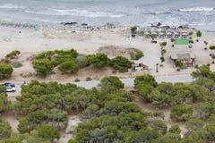 Meningen van een strand in Santa Pola Stock Afbeelding