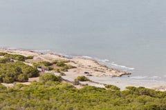 Meningen van een strand in Santa Pola Royalty-vrije Stock Afbeeldingen