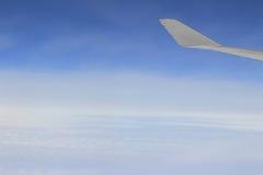 Meningen van een vliegtuigvenster Stock Afbeeldingen