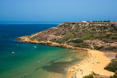 Meningen van Gozo, Ramla-Baai royalty-vrije stock foto
