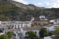 Meningen van Grazalema, Cadiz. Stock Foto