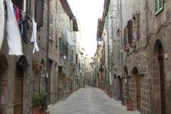 Meningen van het historische dorp Santa Fiora Grosseto Italy royalty-vrije stock foto's