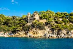 Meningen van het kasteel van Sant Joan in Lloret de Mar Royalty-vrije Stock Foto
