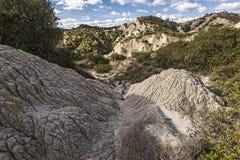 Meningen van het Nationale Park van Aliano Badlands Stock Afbeeldingen
