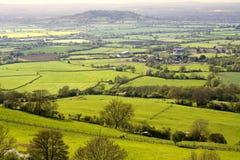 Meningen van het park van het Land van de Heuvel Crickley dichtbij Gloucester Stock Afbeeldingen