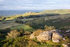 Meningen van Honeybag-piek Dartmoor Devon het UK stock afbeelding