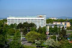 Meningen van hotel in de stad van komsomolsk-op-Amur, Rusland Stock Fotografie