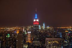Meningen van Imperiumstaat in Manhattan Royalty-vrije Stock Afbeeldingen
