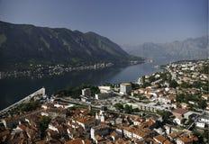 Meningen van Kotor, Montenegro stock foto's