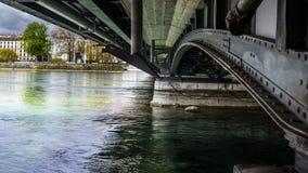 Meningen van leman meer in Genève Royalty-vrije Stock Foto's