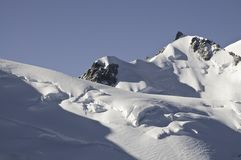 Meningen van Mont-Blanc Royalty-vrije Stock Afbeelding