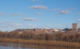 Meningen van Nizhny Novgorod het Kremlin Stock Foto