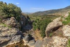Meningen van Onderstel Arbel en rotsen israël Royalty-vrije Stock Fotografie