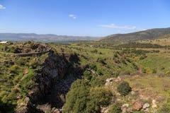 Meningen van Onderstel Arbel en rotsen israël Royalty-vrije Stock Foto
