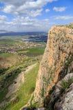 Meningen van Onderstel Arbel en rotsen isrel Royalty-vrije Stock Fotografie