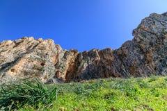 Meningen van Onderstel Arbel en rotsen isrel Royalty-vrije Stock Foto's