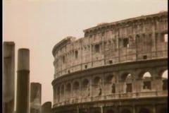 Meningen van Rome, Italië stock footage