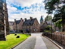 Meningen van Stirling en monumenten aan Robert Bruce en William Royalty-vrije Stock Afbeeldingen
