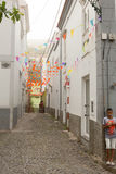 Meningen van straten in de stad van Ribeira Brava royalty-vrije stock afbeeldingen