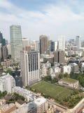 Meningen van Tokyo van het observatiedek Stock Foto's