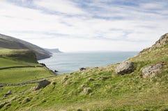Meningen van Torrhoofden in Land Antrim, Noord-Ierland royalty-vrije stock afbeelding