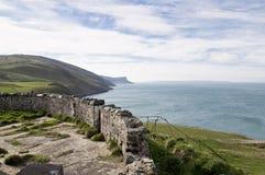 Meningen van Torrhoofden in Land Antrim, Noord-Ierland stock afbeelding