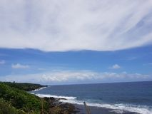 360 meningen van vuurtoren van Siargao-eiland stock fotografie