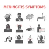 Meningitis sieć infographic Obraz Stock