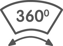 Menings 3d pictogram Royalty-vrije Stock Foto
