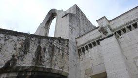 Menings middeleeuws kasteel stock foto's