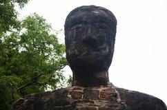 Meningslandschap van het standbeeld van Boedha in Wat Phra Sing van het Historische Park van Kamphaeng Phet in Kamphaeng Phet, Th Stock Fotografie