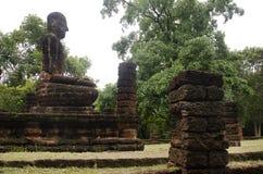 Meningslandschap van het standbeeld van Boedha in Wat Phra Sing van het Historische Park van Kamphaeng Phet in Kamphaeng Phet, Th Royalty-vrije Stock Afbeelding