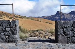 Meningspunt, berggebied, Teide, Tenerife Royalty-vrije Stock Foto