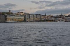 Meningspunt in Stockholm Stock Foto's