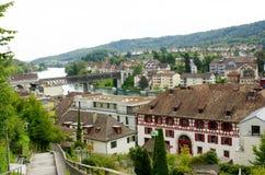 Meningspunt van Munot-Kasteel, Schaffhausen Royalty-vrije Stock Foto