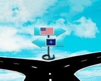 Meningsverschillen tussen de V.S. en NAVO Stock Afbeelding