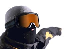 Menino 2 do Snowboarder Imagens de Stock Royalty Free