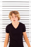 Menino adolescente chocado imagens de stock royalty free